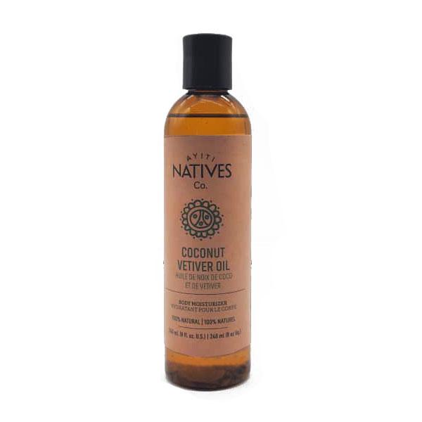 bottle of Coconut Vetiver oil