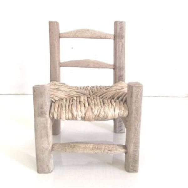 Traditional latanier Wood Chair - Chair