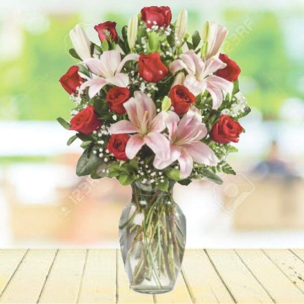 Dozen Red Roses - Floral design