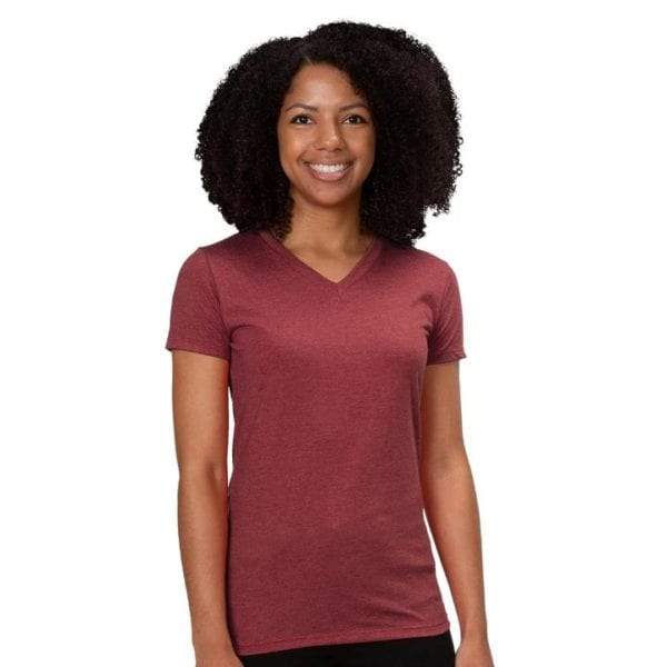Allmade Ladies Tri-Blend V-Neck T-Shirt