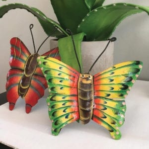 Colorful Butterfly Metal Art