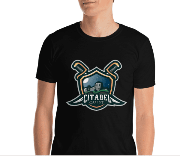 Citadel Quest - Unisex Softstyle T-Shirt - Haitian Video game apparel