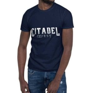 Citadel Quest - Unisex Softstyle T-Shirt - Video Game design