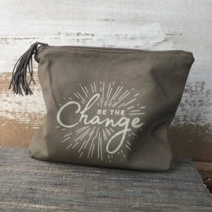 Zipper Pouch - Be The Change by Papillon