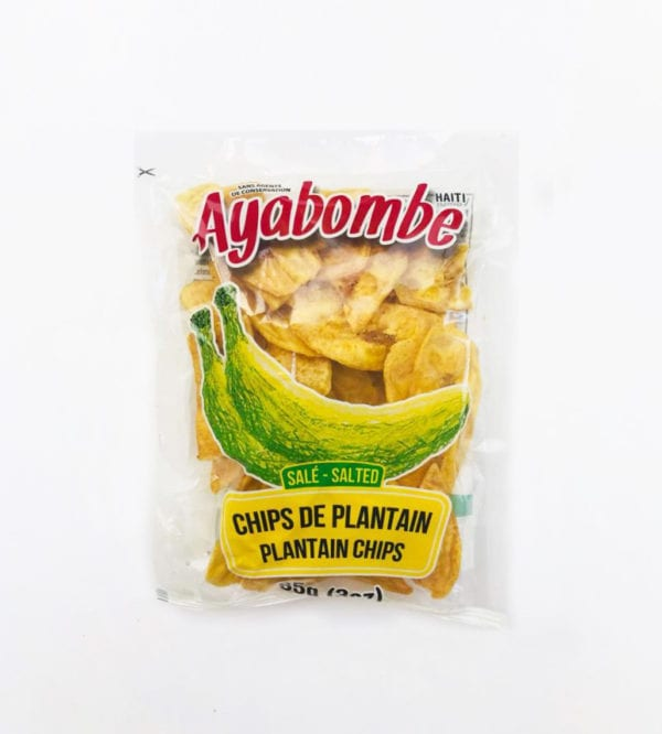 Bag of Haitian Plantain Chips Salted - Papita (85g) - Haitian cuisine