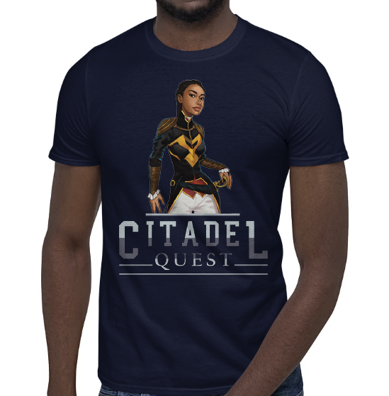 Citadel Quest - Princess Athénaïs - Short-Sleeve Unisex T-Shirt - video game apparel