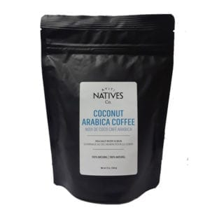 bag of Coconut Arabica Coffee Sea Salt Body Scrub by Ayiti Natives -