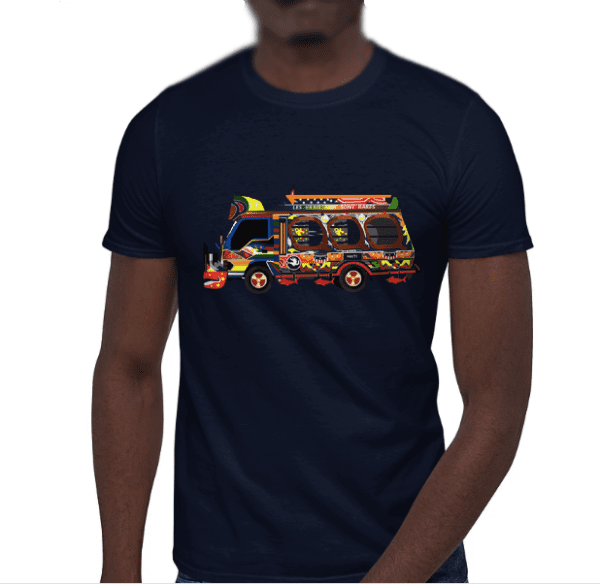 Gade on Tap Tap - Short-Sleeve Unisex T-Shirt - Haitian transport