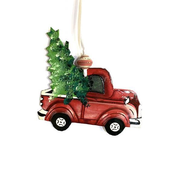 Classic Red Truck Ornament by Papillon - Christmas ornament