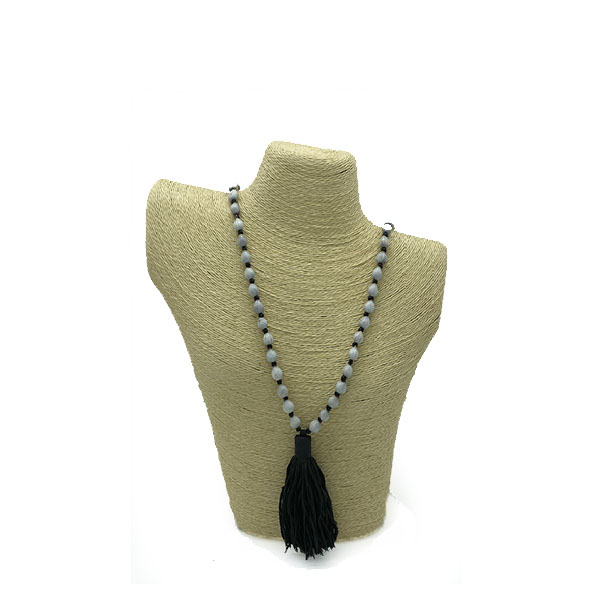 Mala Necklace by Atelier Calla - Royal Black -